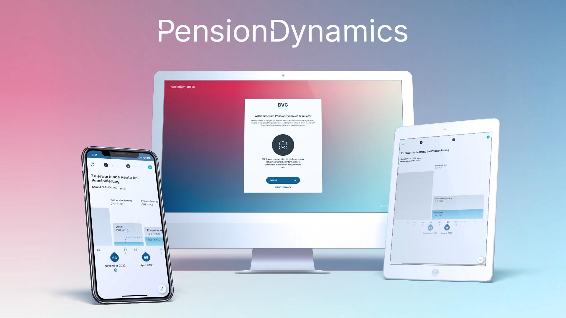 PensionDynamics, Software für beruflichen Vorsorge, einfach, automatisiert, zeitsparend